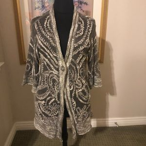 Chico silver threaded sweater - Chico's size 2